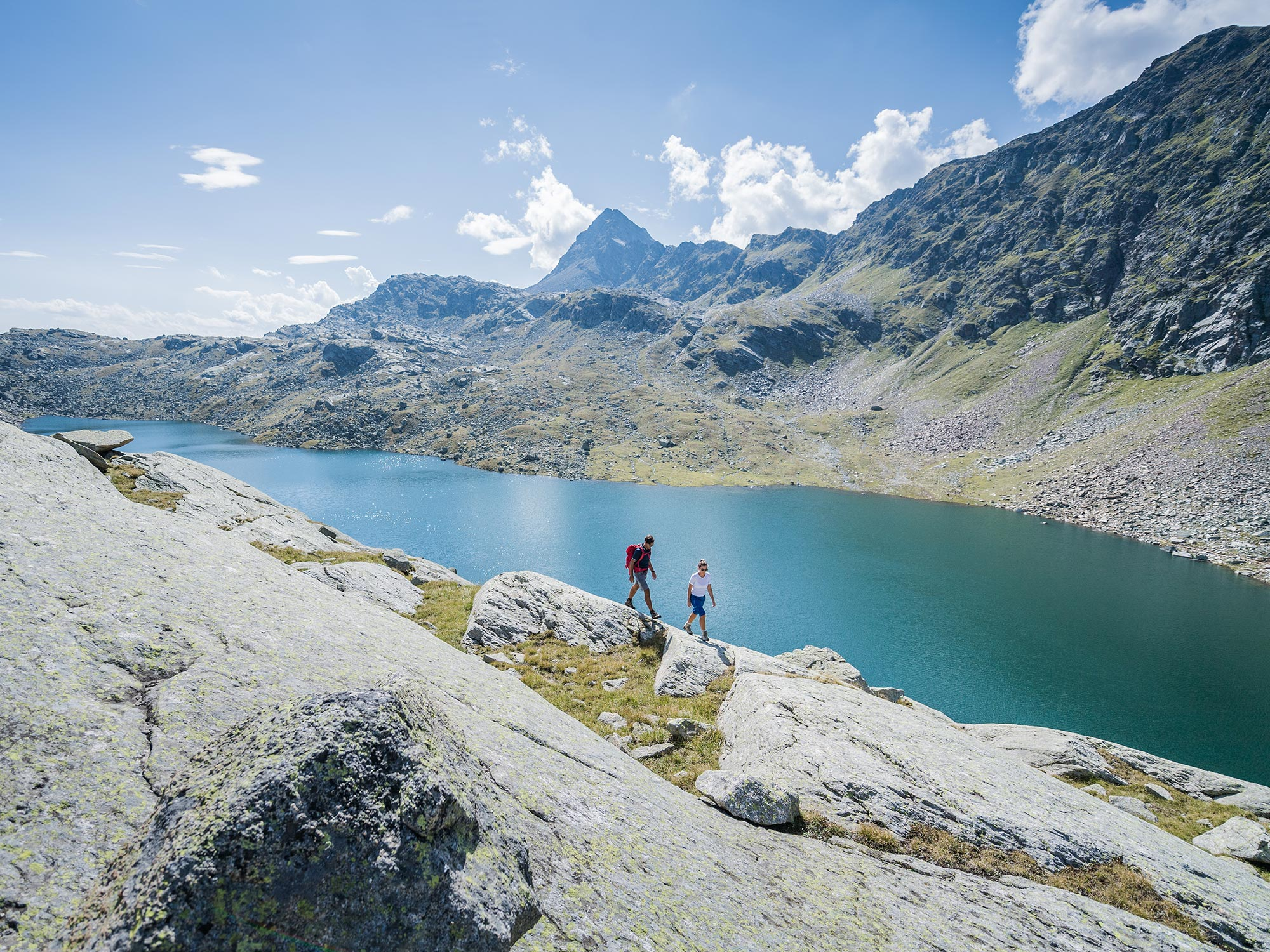 Spronser lakes in the Texel Group above Meran and Dorf Tirol